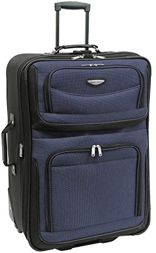 4152oKZ1+bL. AC  - Travel Select Amsterdam Expandable Rolling Upright Luggage, Navy, Checked-Large 29-Inch
