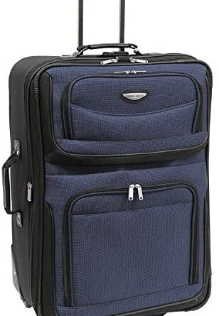 4152oKZ1bL. AC  308x445 - Travel Select Amsterdam Expandable Rolling Upright Luggage, Navy, Checked-Large 29-Inch