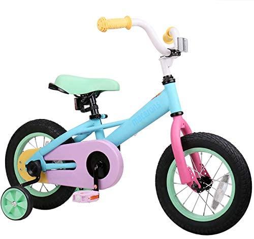 "415XiP3oVtL. AC  - JOYSTAR 12"" 14"" 16"" Kids Bike for 2-7 Years Girls 33-53 inch Tall, Girls Bicycle with Training Wheels & Coaster Brake, 85% Assembled, Macarons"
