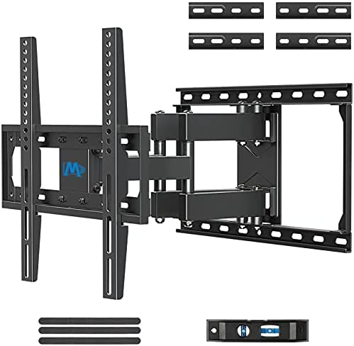 """417CtRQTCMS. AC  - Mounting Dream TV Mount Full Motion TV Wall Mounts for 26-55 Inch Flat Screen TV, Wall Mount TV Bracket with Dual Arms, Max VESA 400x400mm and 99 LBS, Fits 16"""", 18"""", 24"""" Studs MD2380-24K TV Mounts"""