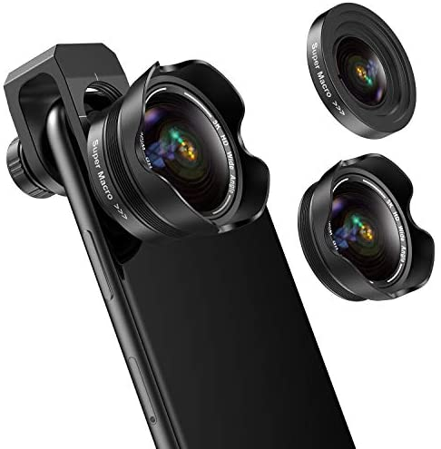418+bySvG8L. AC  - Phone Camera Lens, 5K HD 2 in 1 120° Wide Angle Lens, 20X Macro Lens,Clip-On Phone Lens Compatible iPhone,Samsung, Most Andriod Phones No Distortion