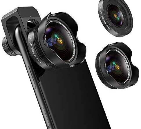 418bySvG8L. AC  486x445 - Phone Camera Lens, 5K HD 2 in 1 120° Wide Angle Lens, 20X Macro Lens,Clip-On Phone Lens Compatible iPhone,Samsung, Most Andriod Phones No Distortion