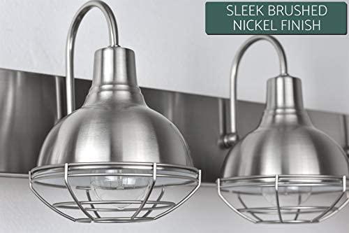 "41AiFb2xmTL. AC  - Kira Home Liberty 36"" 4-Light Modern Industrial Vanity/Bathroom, Kitchen Light + Metal Cage Shades, Brushed Nickel Finish"