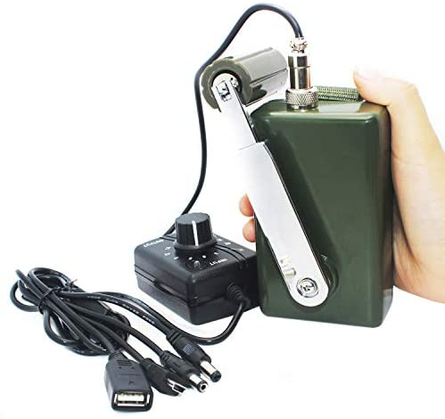 41FqiXwrh8L. AC  - Hand Crank Generator High Power Charger for Outdoor Mobile Phone Computer Charging 30W / 0-28V with USB Plug (Green Generator + DC Regulator)