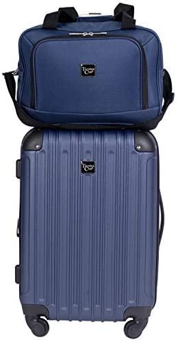 41L1DuBchaL. AC  - Travelers Club Midtown Hardside 4-Piece Luggage Travel Set, Navy Blue