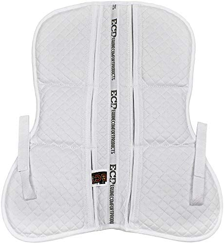41M10JjWhwL. AC  - ECP All Purpose Diamond Quilted Poly Cotton English Half Saddle Pad with Therapeutic Contoured Correction Support Pockets, 18 Memory Foam Shims Included