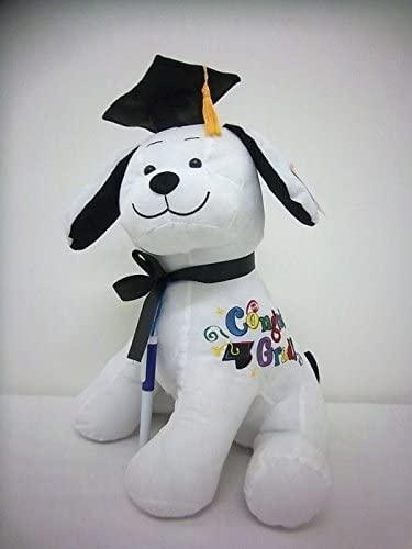 41OoKP eXPL. AC  - Graduation Autograph Stuffed Dog With Pen, Black Cap - Congrats Grad!