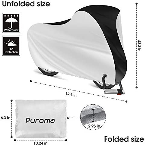 41Qnq 7fhBL. AC  - Puroma Bike Cover Outdoor Waterproof Bicycle Covers Rain Sun UV Dust Wind Proof with Lock Hole for Mountain Road Electric Bike