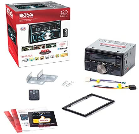 41Wpi4f7RPL. AC  - BOSS Audio Systems 850BRGB Car Stereo - Double Din, Bluetooth Audio and Calling, MP3 Player, CD, USB Port, AUX Input, AM/FM Radio Receiver, Multi Color Illumination