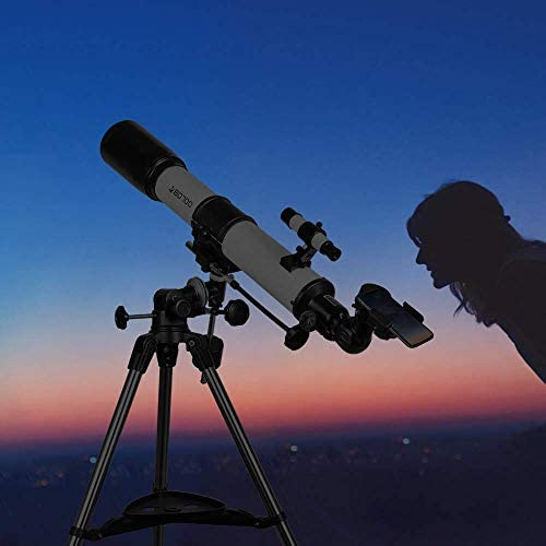 41dRF+4lSqL. AC  - Telescopes for Adults, 80mm Aperture and 700mm Focal Length Astronomy Refractor Telescope for Kids and Beginners - with EQ Mount, 2 Eyepieces and Phone Adaptor