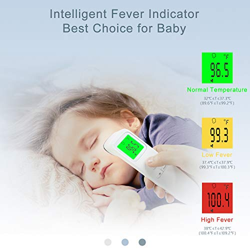 41fRM5+jiGL - XDX Thermometer for Adults Forehead, No Touch Thermometer with Fever Alarm and Memory Ideal for Babies, Kids, Adults, Indoor Outdoor Medical Use