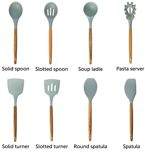 41kt9+jT5AL. AC  - Home Hero Silicone Cooking Utensils Kitchen Utensil Set - 8 Natural Acacia Wooden Silicone Kitchen Utensils Set - Silicone Utensil Set Spatula Set - Silicone Utensils Cooking Utensil Set