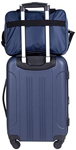 41l0e9mt0YL. AC  - Travelers Club Midtown Hardside 4-Piece Luggage Travel Set, Navy Blue