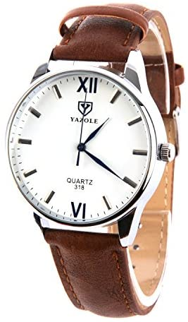 41oWuZuNkPL. AC  - K-Martins Mens Wrist Watch -Quartz Analog Roman Numeral with Classic Brown Leather - Waterproof 10 Years Batteries - Fashion Casual Unique Dress - Business Office Work School Watches