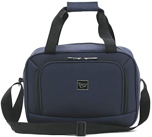 41oZs2w5juL. AC  - Travelers Club Midtown Hardside 4-Piece Luggage Travel Set, Navy Blue