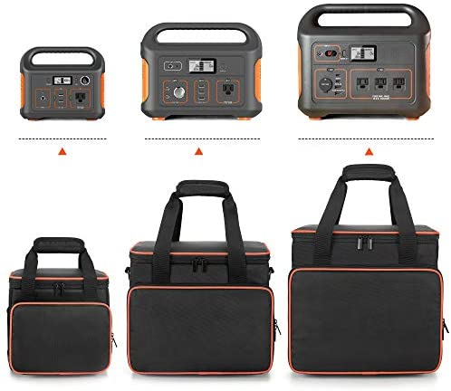 41pKEOH94YL. AC  - Trunab Travel Carrying Bag Compatible with Jackery Portable Power Station Explorer 160/240/300, Storage Case with Waterproof PU Bottom and Front Pockets for Charging Cable and Accessories