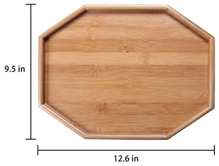 41sP7tY kbL. AC  - Xchouxer Side Tables Natural Bamboo Sofa Armrest Clip-On Tray, Ideal for Remote/Drinks/Phone