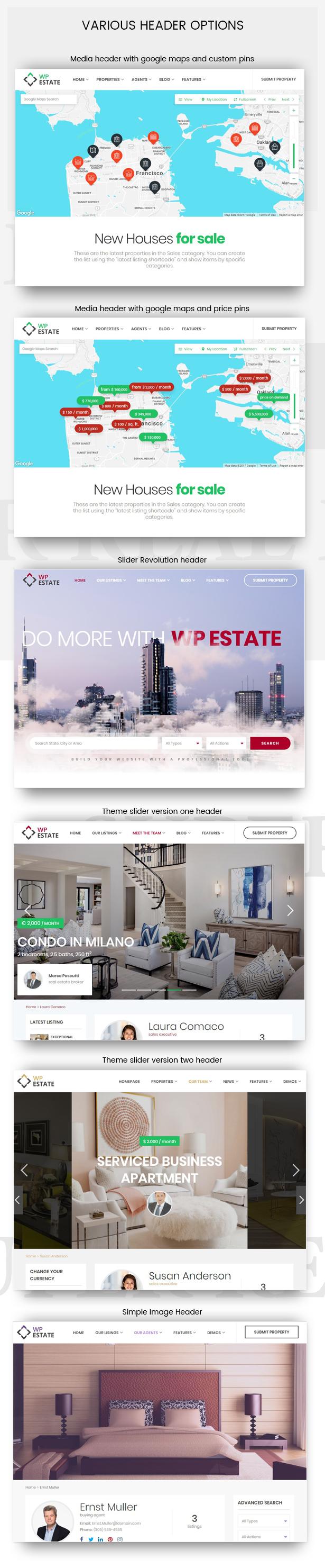 4media headers - WpEstate Real Estate WordPress Theme