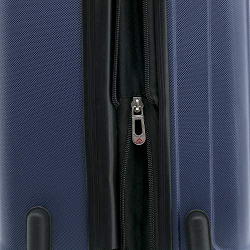 51 3DU oLTL. AC  - Travelers Club Midtown Hardside 4-Piece Luggage Travel Set, Navy Blue
