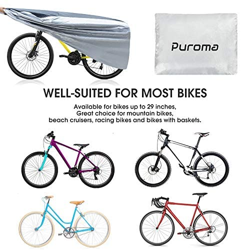 510mZeP QEL. AC  - Puroma Bike Cover Outdoor Waterproof Bicycle Covers Rain Sun UV Dust Wind Proof with Lock Hole for Mountain Road Electric Bike