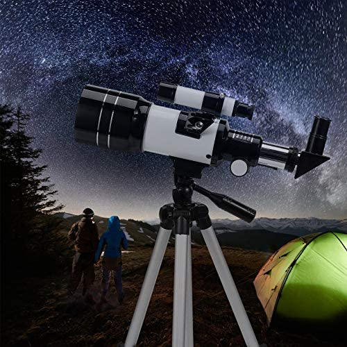 512hEp8 aEL. AC  - Astronomical Telescope Zoom 150X Adjustable Tripod Backpack Phone Holder for Moon Viewing - 70mm Aperture 300mm AZ Mount Astronomical Refracting Telescope for Kids Beginners