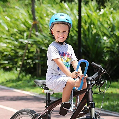 518 h0Y+GOL. AC  - UrRider Child Bike Seat, Portable, Foldable & Ultralight Front Mount Baby Kids' Bicycle Carrier with Handrail for Mountain Bikes, Hybrid Bikes, Fitness Bikes