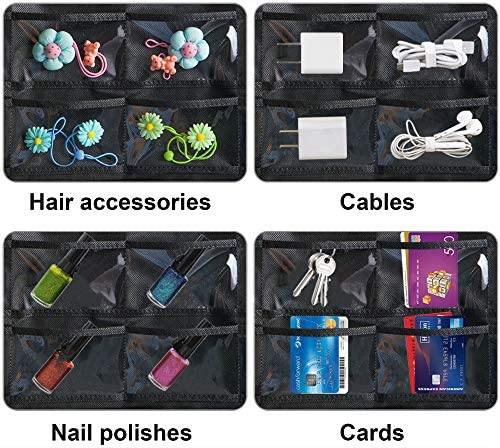51GhMkdlwoL. AC  - Misslo Jewelry Hanging Non-Woven Organizer Holder 32 Pockets 18 Hook and Loops - Black