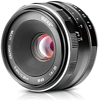 51Iiva7AUAL. AC  - Meike 25mm F1.8 Large Aperture Wide Angle Lens Manual Focus Lens for Olypums Panasonic M43 Mount Mirrorless Cameras