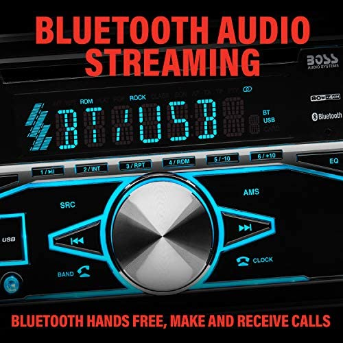 51NNpITD4JL. AC  - BOSS Audio Systems 850BRGB Car Stereo - Double Din, Bluetooth Audio and Calling, MP3 Player, CD, USB Port, AUX Input, AM/FM Radio Receiver, Multi Color Illumination