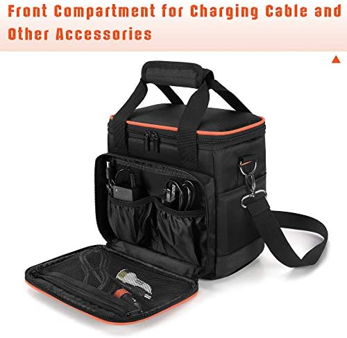 51OndI3xZrL. AC  - Trunab Travel Carrying Bag Compatible with Jackery Portable Power Station Explorer 160/240/300, Storage Case with Waterproof PU Bottom and Front Pockets for Charging Cable and Accessories