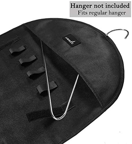 51SvnBjYJmL. AC  - Misslo Jewelry Hanging Non-Woven Organizer Holder 32 Pockets 18 Hook and Loops - Black