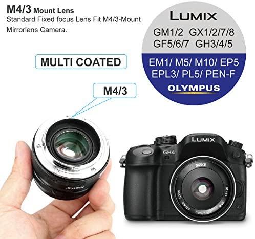 51UfQm+WbuL. AC  - Meike 25mm F1.8 Large Aperture Wide Angle Lens Manual Focus Lens for Olypums Panasonic M43 Mount Mirrorless Cameras