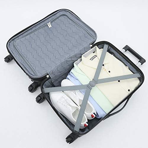 51V0vJgvQfL. AC  - Travelers Club Midtown Hardside 4-Piece Luggage Travel Set, Navy Blue