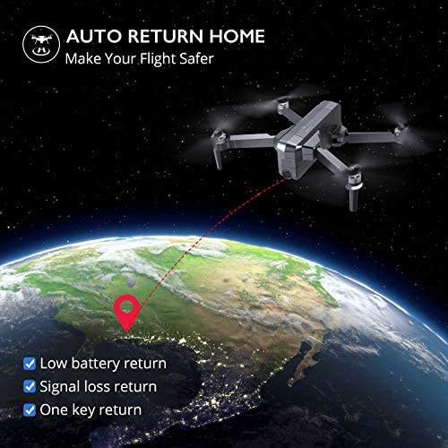 51XsReVxexL. AC  - Ruko F11 Pro Drones with Camera for Adults 4K UHD Camera Live Video 30 Mins Flight Time with GPS Return Home Brushless Motor-Black(1 Extra Battery + Carrying Case)