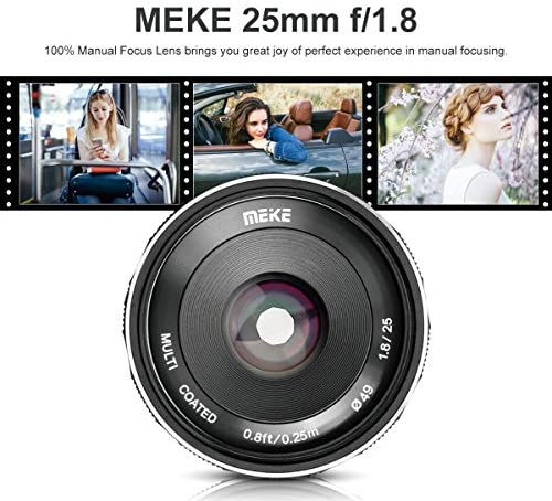 51cmogh6x0L. AC  - Meike 25mm F1.8 Large Aperture Wide Angle Lens Manual Focus Lens for Olypums Panasonic M43 Mount Mirrorless Cameras