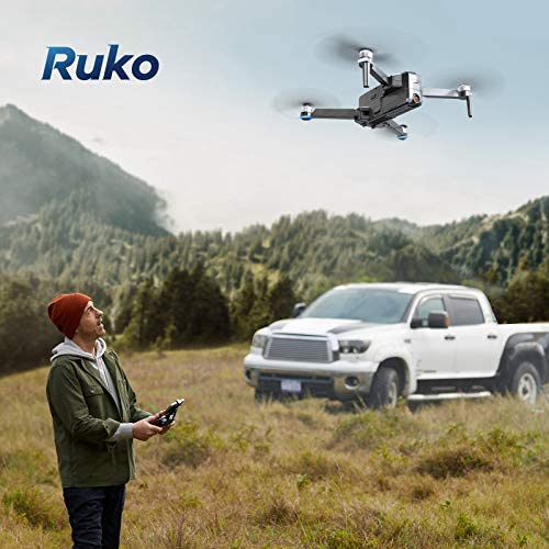 51iiVPXjdpL. AC  - Ruko F11 Pro Drones with Camera for Adults 4K UHD Camera Live Video 30 Mins Flight Time with GPS Return Home Brushless Motor-Black(1 Extra Battery + Carrying Case)