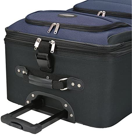 51jWVL9bJBL. AC  - Travel Select Amsterdam Expandable Rolling Upright Luggage, Navy, Checked-Large 29-Inch