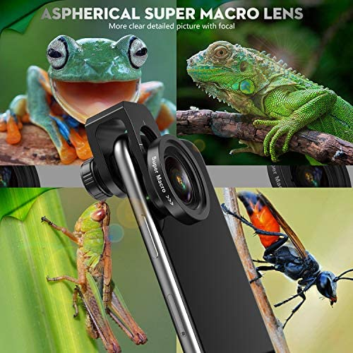 51oeG6Cu74L. AC  - Phone Camera Lens, 5K HD 2 in 1 120° Wide Angle Lens, 20X Macro Lens,Clip-On Phone Lens Compatible iPhone,Samsung, Most Andriod Phones No Distortion
