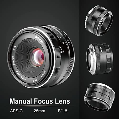 51pxiYR7a9L. AC  - Meike 25mm F1.8 Large Aperture Wide Angle Lens Manual Focus Lens for Olypums Panasonic M43 Mount Mirrorless Cameras