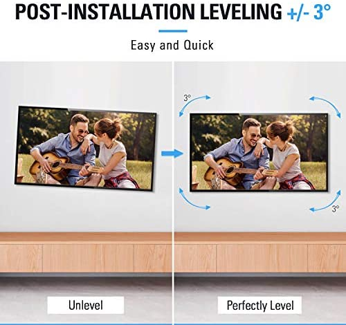 """51tDvkGMewL. AC  - Mounting Dream TV Mount Full Motion TV Wall Mounts for 26-55 Inch Flat Screen TV, Wall Mount TV Bracket with Dual Arms, Max VESA 400x400mm and 99 LBS, Fits 16"""", 18"""", 24"""" Studs MD2380-24K TV Mounts"""