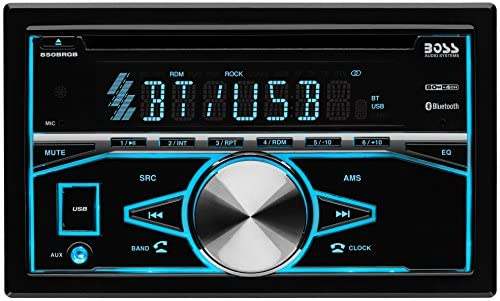 51uYk03LXRL. AC  - BOSS Audio Systems 850BRGB Car Stereo - Double Din, Bluetooth Audio and Calling, MP3 Player, CD, USB Port, AUX Input, AM/FM Radio Receiver, Multi Color Illumination