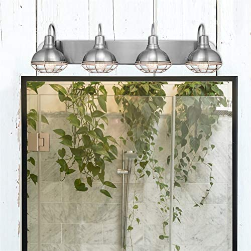 "51xjcoUKCNL. AC  - Kira Home Liberty 36"" 4-Light Modern Industrial Vanity/Bathroom, Kitchen Light + Metal Cage Shades, Brushed Nickel Finish"