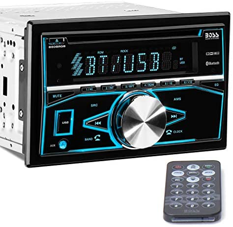 51yYsiZIh6L. AC  - BOSS Audio Systems 850BRGB Car Stereo - Double Din, Bluetooth Audio and Calling, MP3 Player, CD, USB Port, AUX Input, AM/FM Radio Receiver, Multi Color Illumination