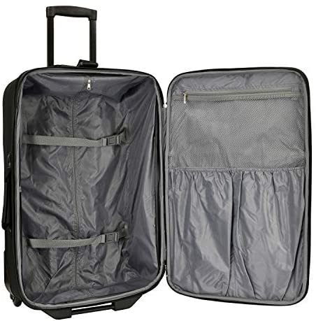 51zdneH97sL. AC  - Travel Select Amsterdam Expandable Rolling Upright Luggage, Navy, Checked-Large 29-Inch
