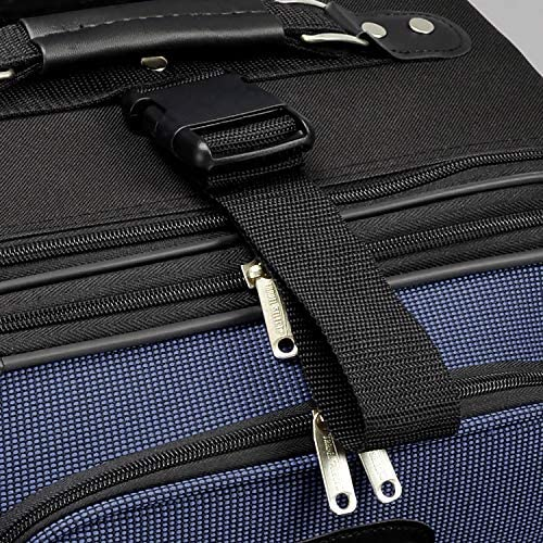 61UX46V5pZL. AC  - Travel Select Amsterdam Expandable Rolling Upright Luggage, Navy, Checked-Large 29-Inch
