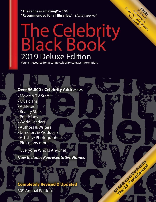 71e6WlpBvfL - The Celebrity Black Book 2019 (Deluxe Edition): Over 56,000+ Verified Celebrity Addresses for Autographs & Memorabilia, Nonprofit Fundraising, ... Small Business Sales/Marketing & More! (2019)
