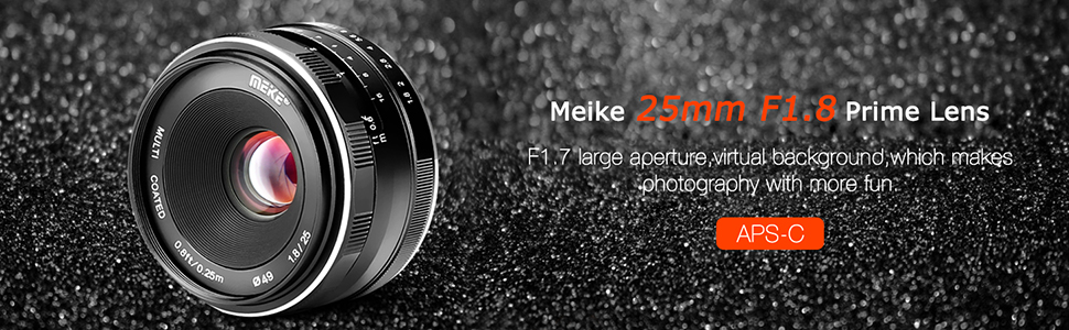 83543a0c 3319 40c0 b5d1 ac63dad386a0. CR0,0,970,300 PT0 SX970   - Meike 25mm F1.8 Large Aperture Wide Angle Lens Manual Focus Lens for Olypums Panasonic M43 Mount Mirrorless Cameras