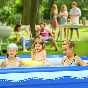 8987fff5 b92f 48bf b7c1 d2832db64146.  CR0,0,300,300 PT0 SX300 V1    - Sable Inflatable Pool, 118 x 72.5 x 20in Rectangular Swimming Pool for Toddlers, Kids, Family, Above Ground, Backyard, Outdoor, Blue (SA-HF071)