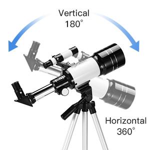 9fbb601f 0237 4451 9efd 8a0e90d338b0.  CR0,0,300,300 PT0 SX300 V1    - Astronomical Telescope Zoom 150X Adjustable Tripod Backpack Phone Holder for Moon Viewing - 70mm Aperture 300mm AZ Mount Astronomical Refracting Telescope for Kids Beginners