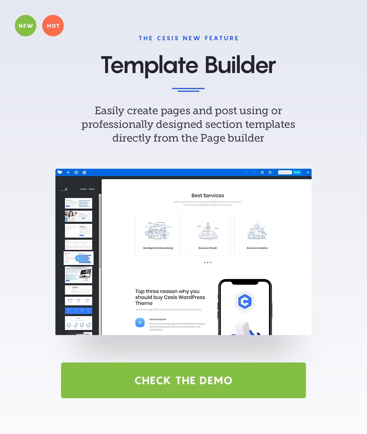Cesis Template Builder - Cesis   Responsive Multi-Purpose WordPress Theme